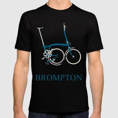 Brompton Bike Mens Fitted Tee Black X-LARGE