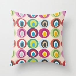 Retro geometric: Born to express love Throw Pillow