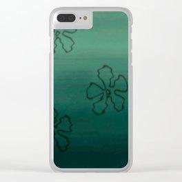 Sea Bottom Flower Pattern Clear iPhone Case