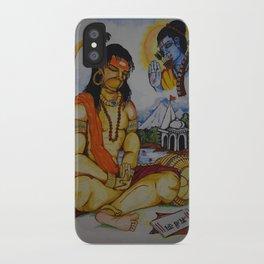 Painting of Lord Hanuman I Painting of Monkey King I Original painting of Amrita Gupta iPhone Case