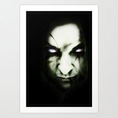 Scary woman Art Print
