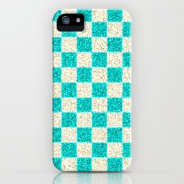 CHECKERED CYAN PATTERN - For IPhone - iPhone Case