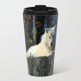 Sentinel: Arctic Wolf Travel Mug