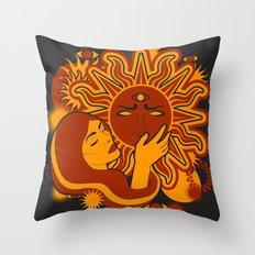 Sunworship Throw Pillow
