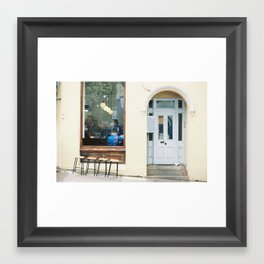side streets Framed Art Print
