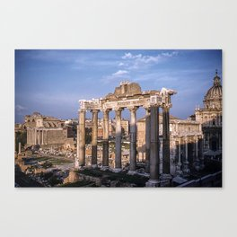 Roman Ruins - Vintage photography Canvas Print