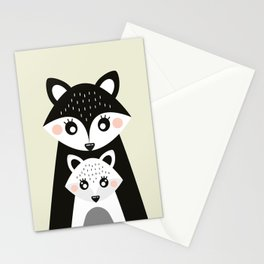 Scandinavian Mother and baby Fox Stationery Cards