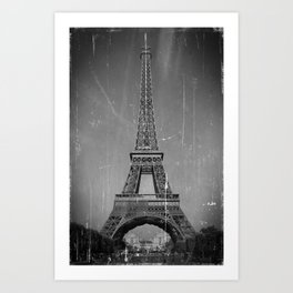 Vintage Eiffel Tower Art Print