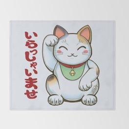 Maneki Neko Tenshu Throw Blanket