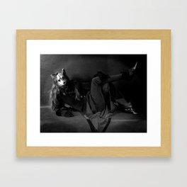 The Rabbits Curious Friend Framed Art Print