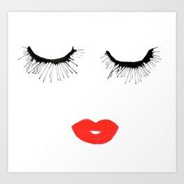 Lashes & Lips Art Print