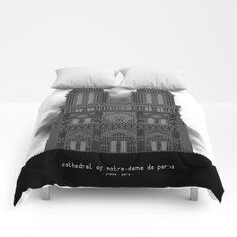 HexArchi - France, Paris, Cathedral of Notre Dame de Paris Comforters