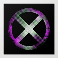 x men Canvas Prints featuring X-Men by Trey Crim