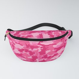 Army Camouflage Pink Pattern Background Fanny Pack