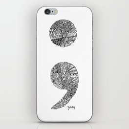 Patterned Semicolon #2 iPhone Skin