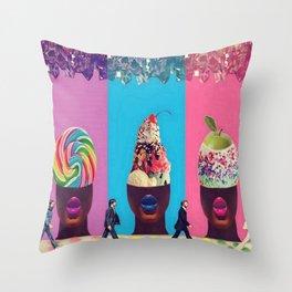 Sundae Candy Throw Pillow