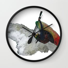 Kayak Decent Wall Clock