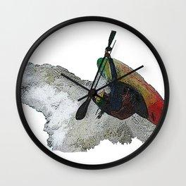 Kayak Decent Wall Clock