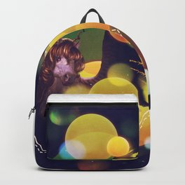 White Unicorn with yellow bokeh Backpack