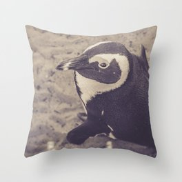 Adorable African Penguin Series 2 of 4 Throw Pillow