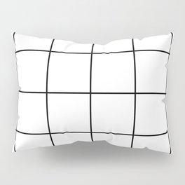 black grid on white background Pillow Sham