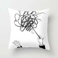 downbeat??  find my beat! Throw Pillow