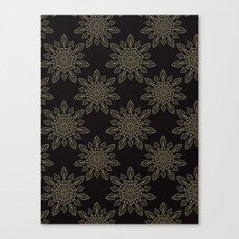 Flourish Floral Arabesque Mandalas Canvas Print