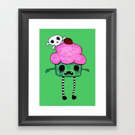 Zombie Cupcake Framed Art Print