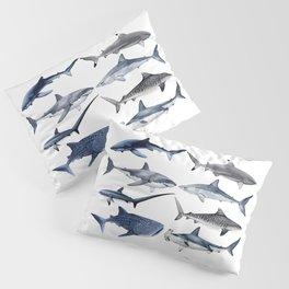8 SHARKS (navy) Pillow Sham