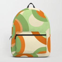 vintage rings orange green Backpack