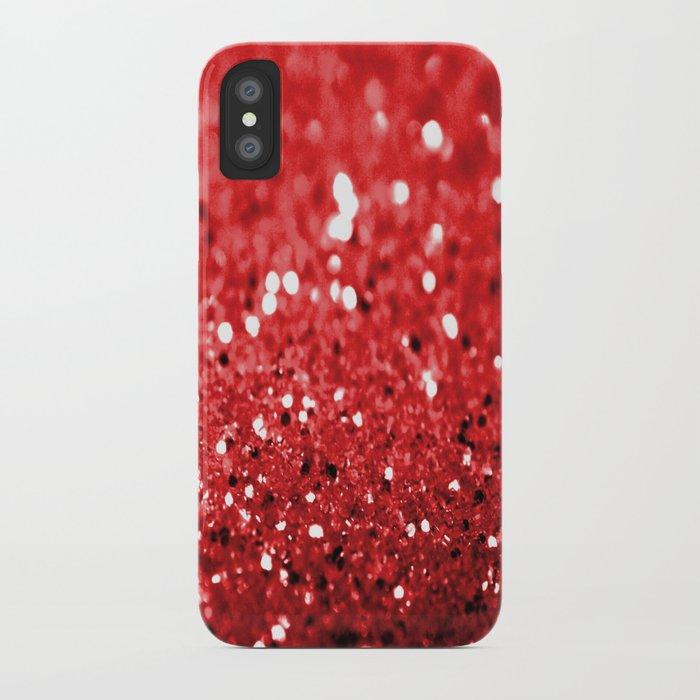Glitter Red iPhone Case