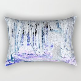 Meet Me In The Woods With The Purple Flowers Rectangular Pillow