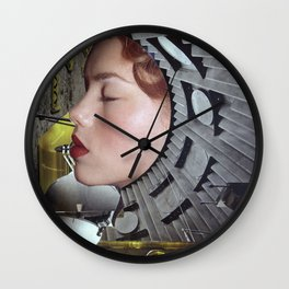 Ground Control  - Vintage Space Astronaut Collage Wall Clock