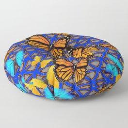 MODERN BUTTERFLY BLUE ABSTRACT WORLD Floor Pillow