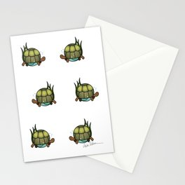 Turtle in a Circle Stationery Cards