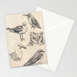 Bird vintage sketches Stationery Cards