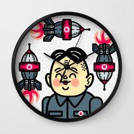 Kim Jong Un Rockets Wall Clock