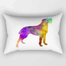 Bohemian Wirehaired Pointing Griffon in watercolor Rectangular Pillow