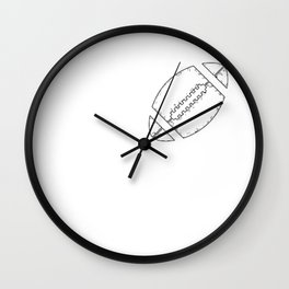 I Love American Football Game Player Mom Dad Design Wall Clock