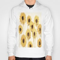 sunflowers Hoodies featuring Sunflowers by mama wolf spider