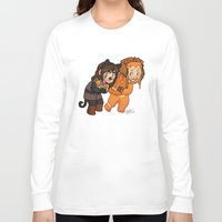 fili Long Sleeve T-shirts featuring Halloween Fili and Kili by Hattie Hedgehog