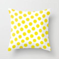 Polka Dots Watercolor Throw Pillow