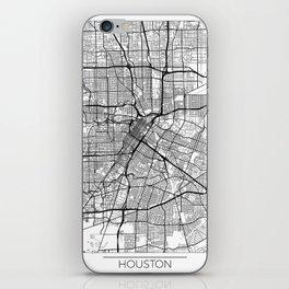 Houston Map White iPhone Skin