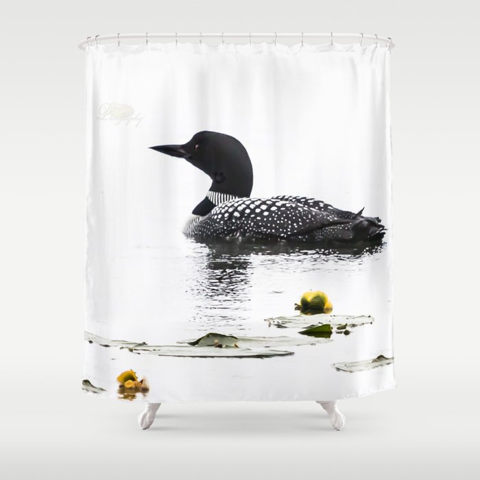 June Loon Shower Curtain By Michael Johnk Photography