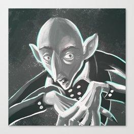 creepy spooky nosferatu Canvas Print