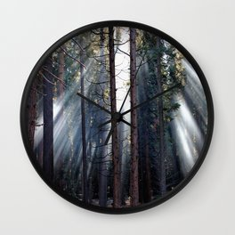 Peaking Through the Tree Wall Clock