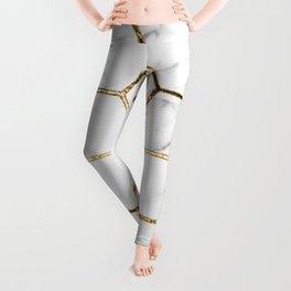 Gatsby golden marble Leggings