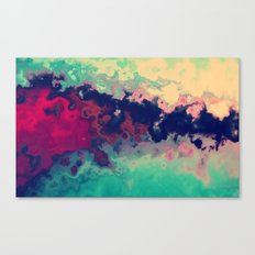 Watercolor marble Canvas Print