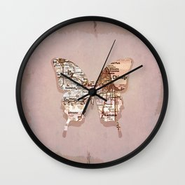 chicago butterfly Wall Clock