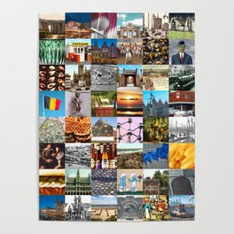 Typical Belgium - collage of images of the country and history Poster